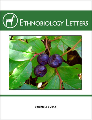 Ethnobiology Letters Cover, Volume 3, 2012