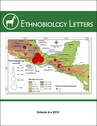 Ethnobiology Letters Cover, Volume 4, 2013