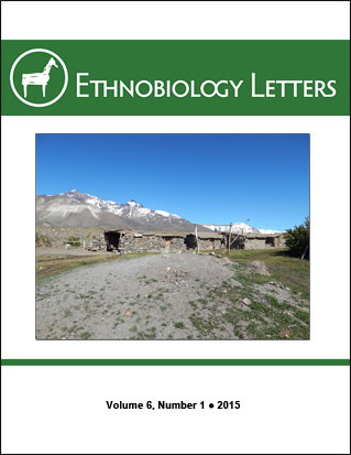 Ethnobiology Letters Cover, Volume 6, Issue 1, 2015
