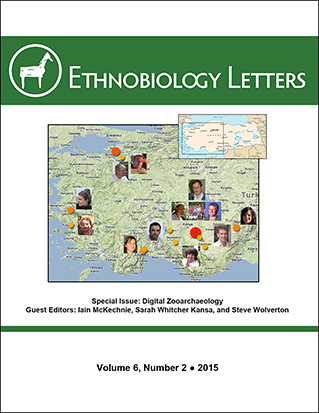 Ethnobiology Letters Cover, Volume 6, Issue 2, 2015