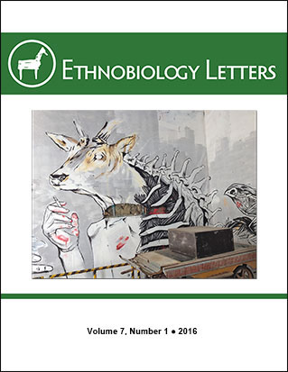 Ethnobiology Letters Cover, Volume 7, Issue 1, 2016