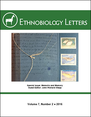 Ethnobiology Letters Cover, Volume 7, Issue 2, 2016