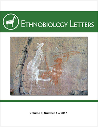 Ethnobiology Letters Cover, Volume 8, Issue 1, 2017
