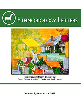 Ethnobiology Letters Cover, Volume 9, Issue 1, 2018