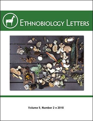 Ethnobiology Letters Cover, Volume 9, Issue 2, 2018