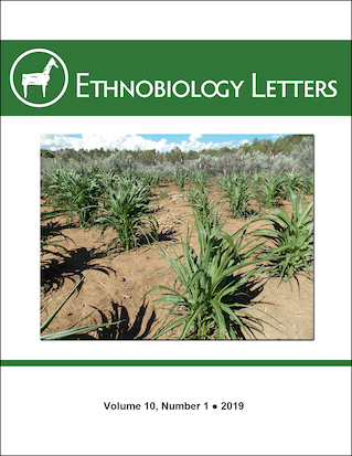 Ethnobiology Letters Cover, Volume 10, Issue 1, 2019