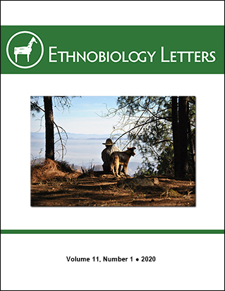 Ethnobiology Letters Cover, Volume 11, Issue 1, 2020