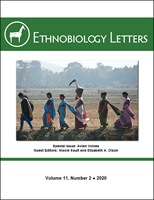 Ethnobiology Letters Cover, Volume 11, Issue 2, 2020