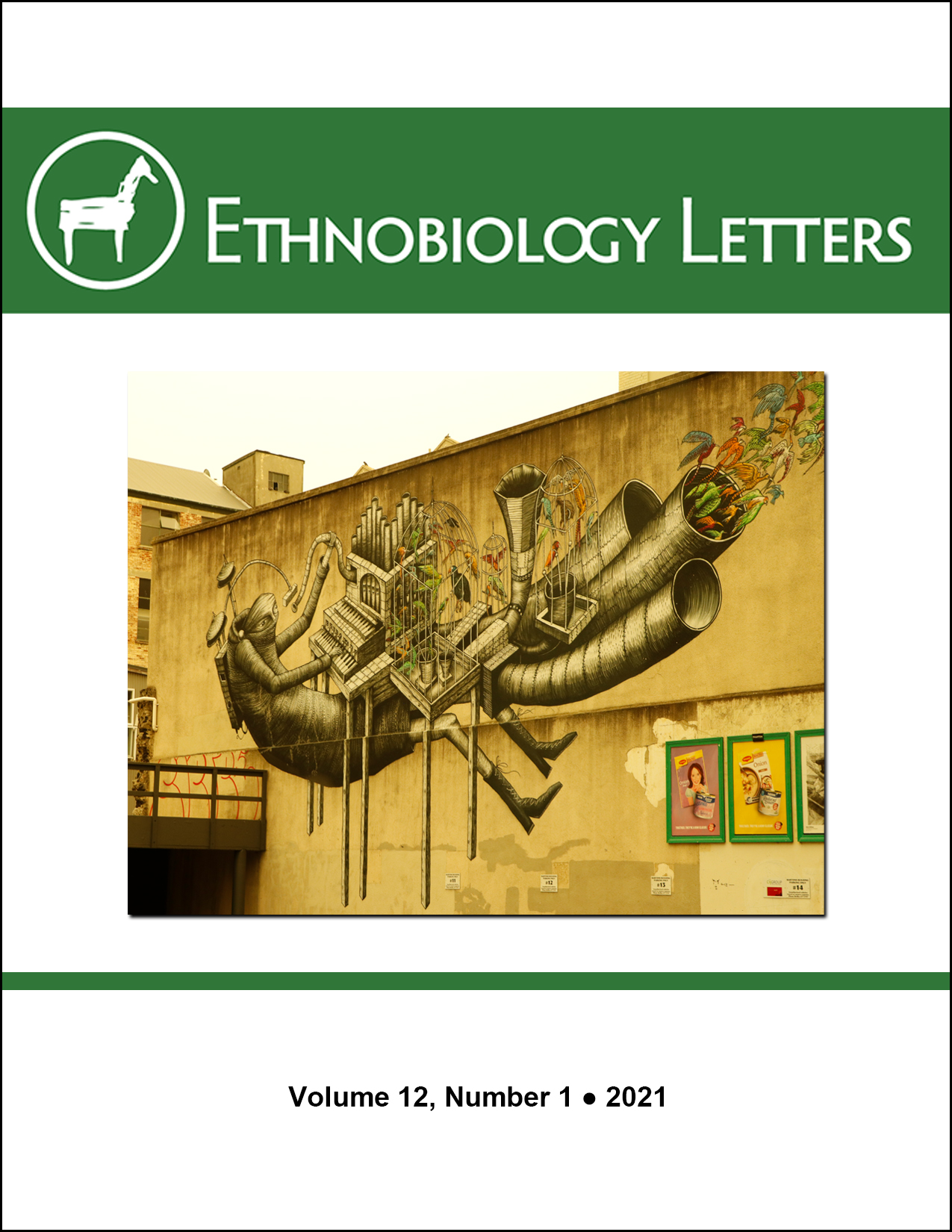 Ethnobiology Letters Cover, Volume 12, Issue 1, 2021