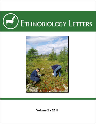 Ethnobiology Letters Cover, Volume 2, 2011